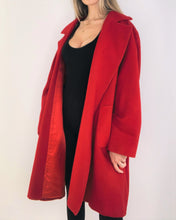 Load image into Gallery viewer, Perfect Red Wool Oversize Cocoon Coat