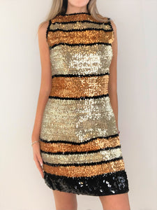 Sparkly Multi Color Sequin Dress