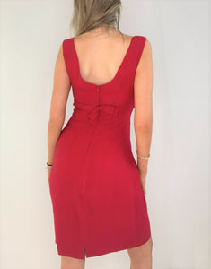 Cherry Red 60's Cocktail Dress