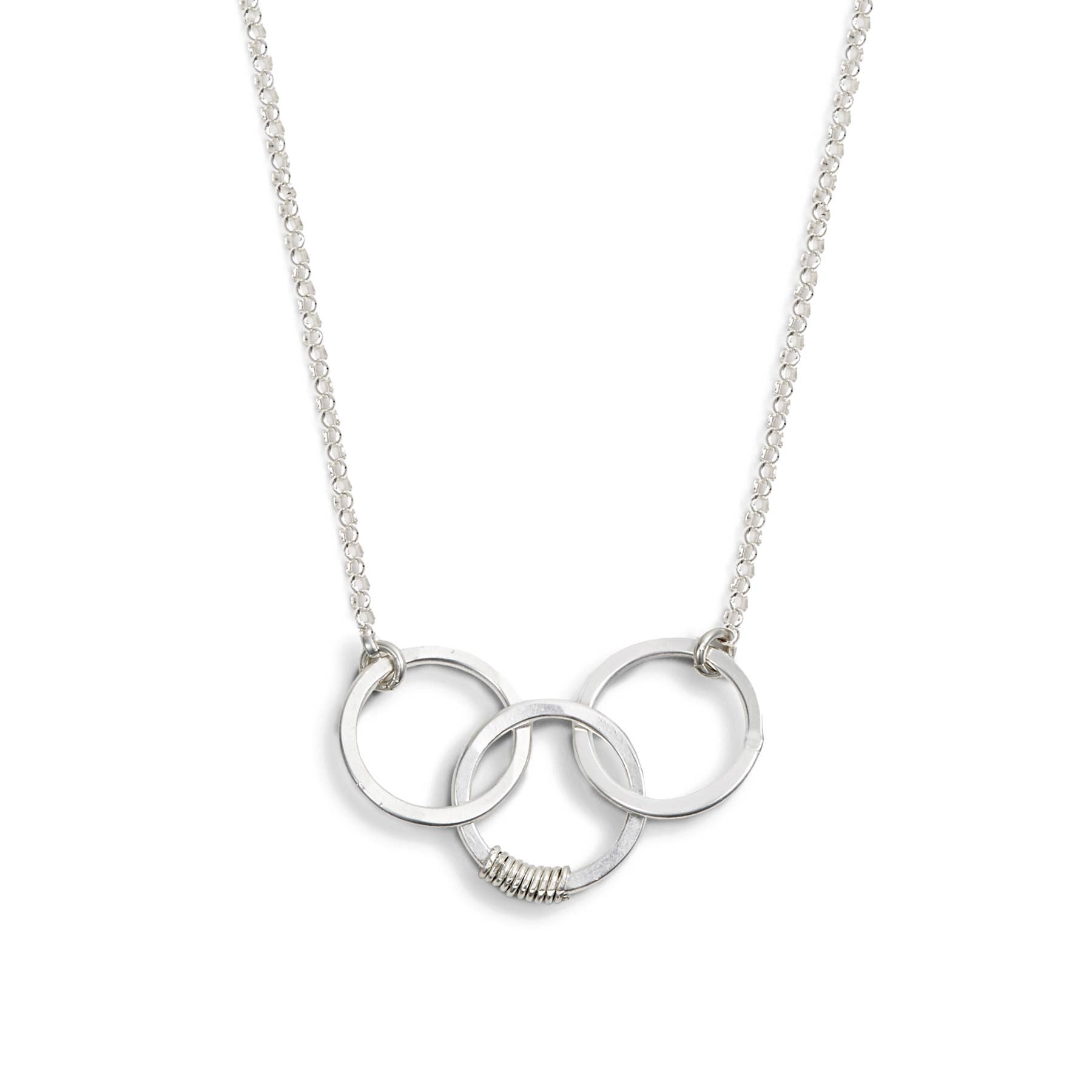 Cartwheel Necklace - three circle pendant