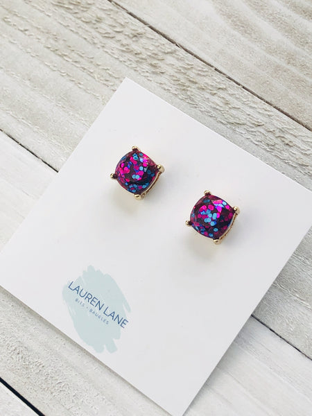 Glitter Studs : available in 6 colors