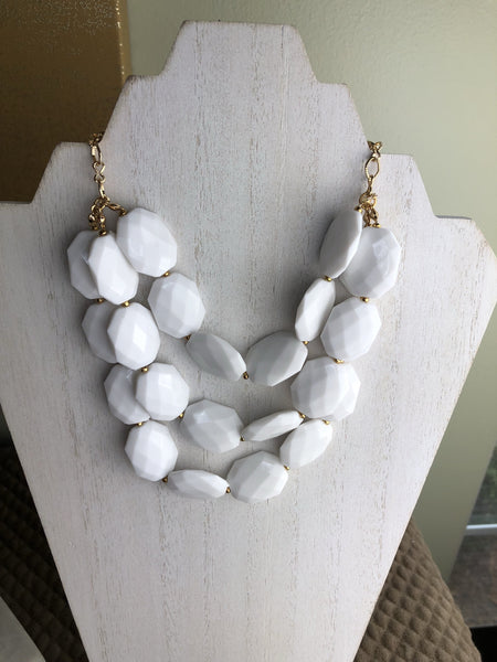 Helen Triple Strand Statement Necklace