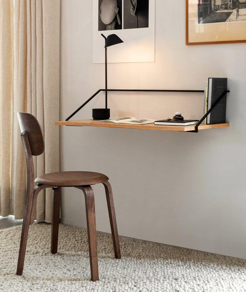 small wall shelf desk