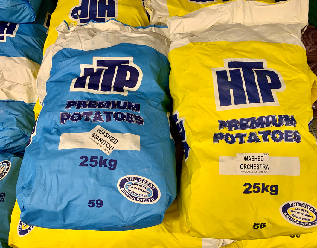 Potatoes white washed/red washed 25kg sack