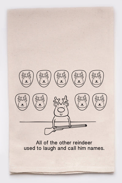 All the other reindeer used to laugh and call him names