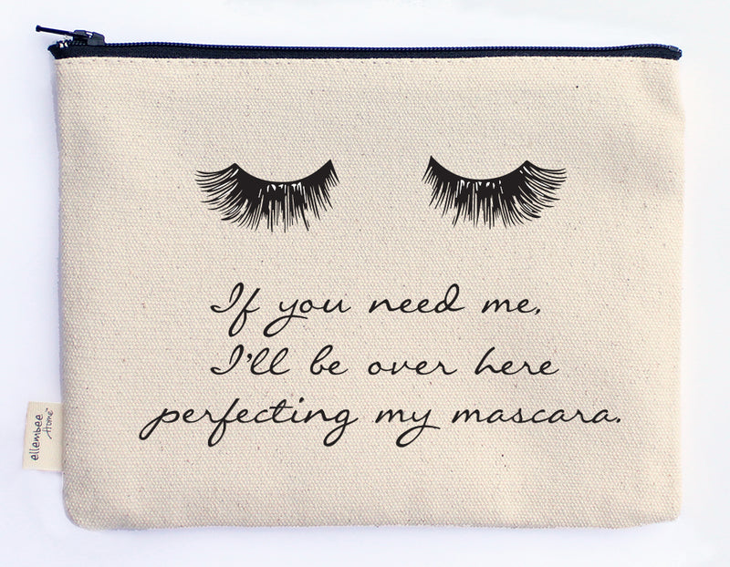 I'll be over here perfecting my mascara