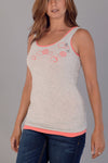SALE s, m, xl, xxl - Chevron Clouds Tank in Heather Gray
