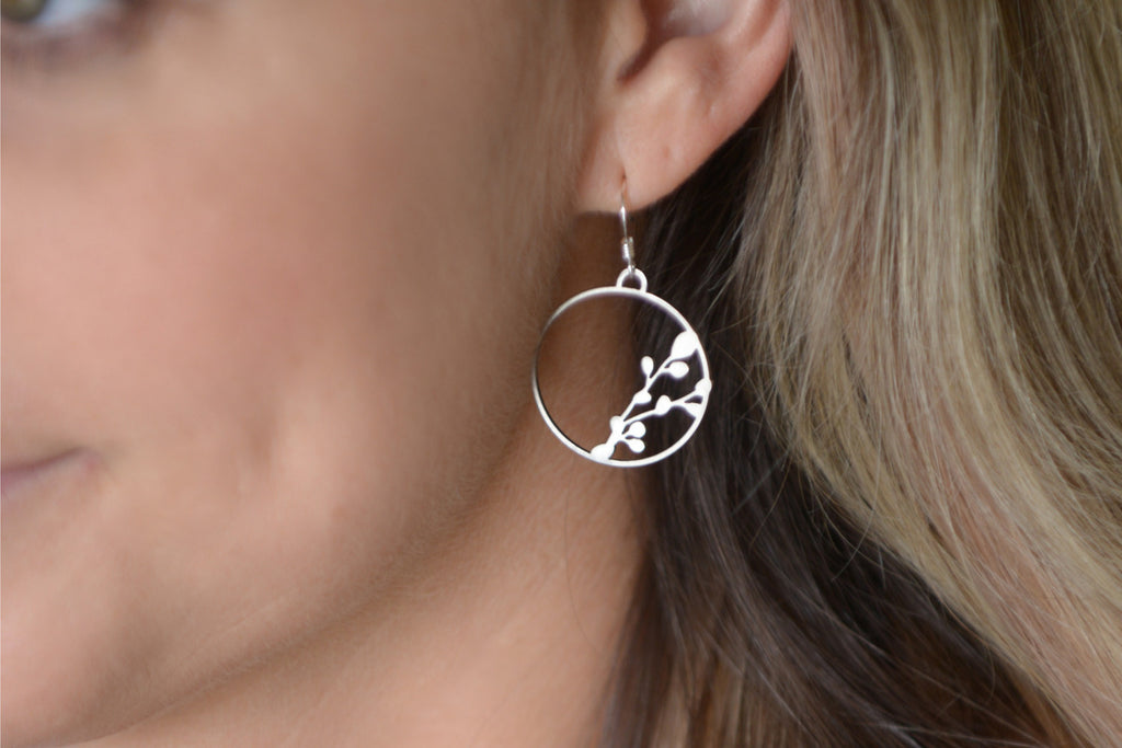 berry hoops earrings