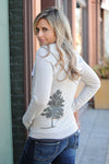 birds of a feather hoodie in light warm gray