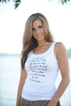 la vie en rose tank in white