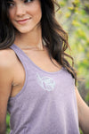 drifting feathers tank in orchid