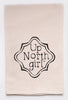 up north girl - flour sack tea towel