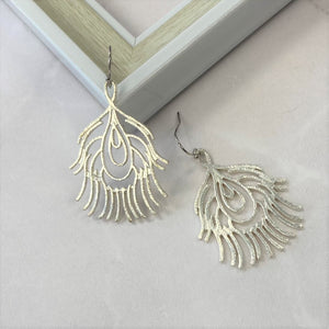 Peacock Feathers in silver