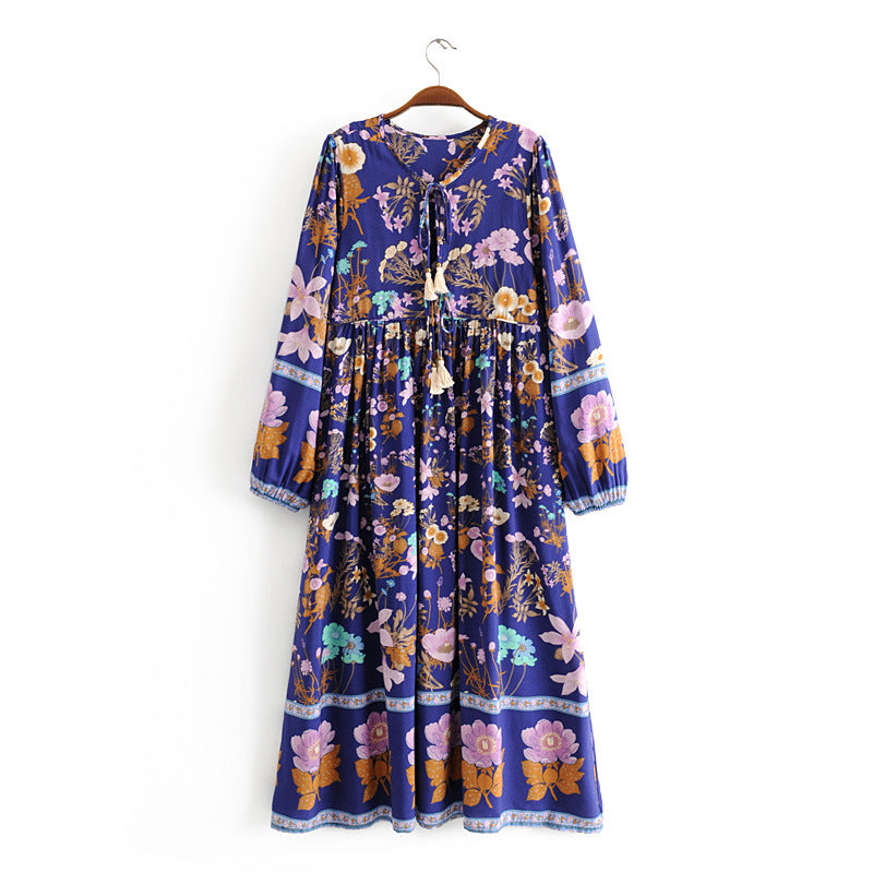Majestic Midnight Garden Tunic Dress