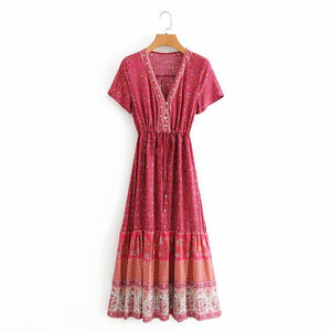 Warm Red Summer Days and Holidays Dress