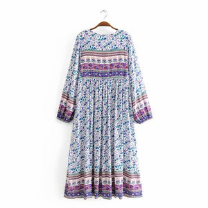 Spring Time Sprigs Tunic Dress