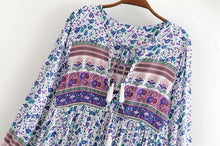 Load image into Gallery viewer, Spring Time Sprigs Tunic Dress