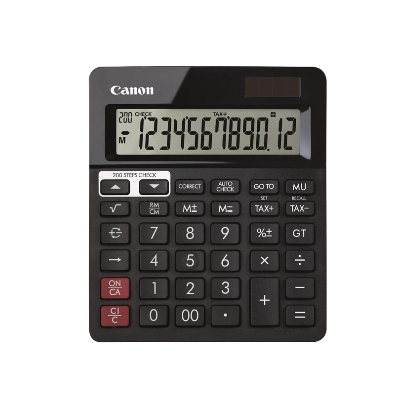 Canon AS288R Black Desktop Calculator - 12 Digits