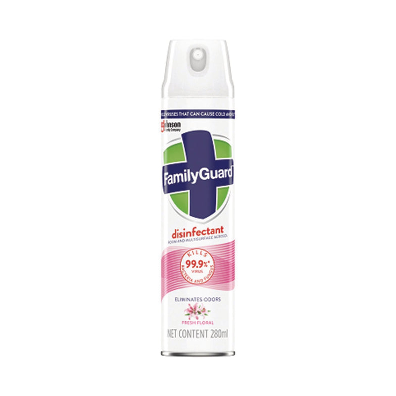 FamilyGuard Disinfectant Spray/Aerosol (Fresh Floral) - 280ml