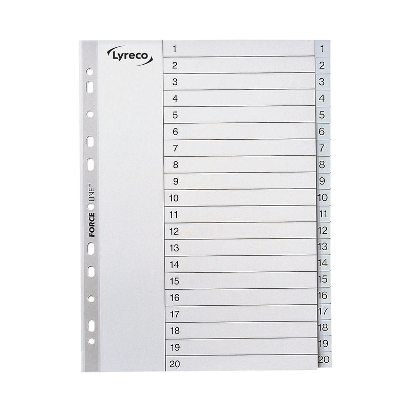Lyreco A4 Printed Dividers Index 1-20
