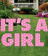 "Load image into Gallery viewer, ""It's A Girl"" or ""It's A Boy"" 20 inch lawn letters"