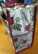 Load image into Gallery viewer, Tapestry Shopper Bag - Red Pug