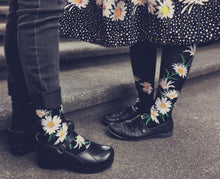 Load image into Gallery viewer, Crazy for Daisies - Knee Highs by Modsocks