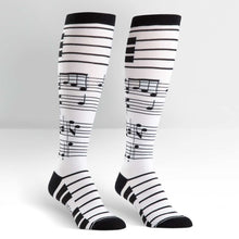 Load image into Gallery viewer, Foot Notes - Knee Highs by Sock it to Me