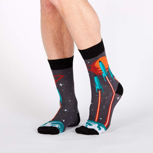 Launch from Earth - Men's Crew Socks by Sock it to Me