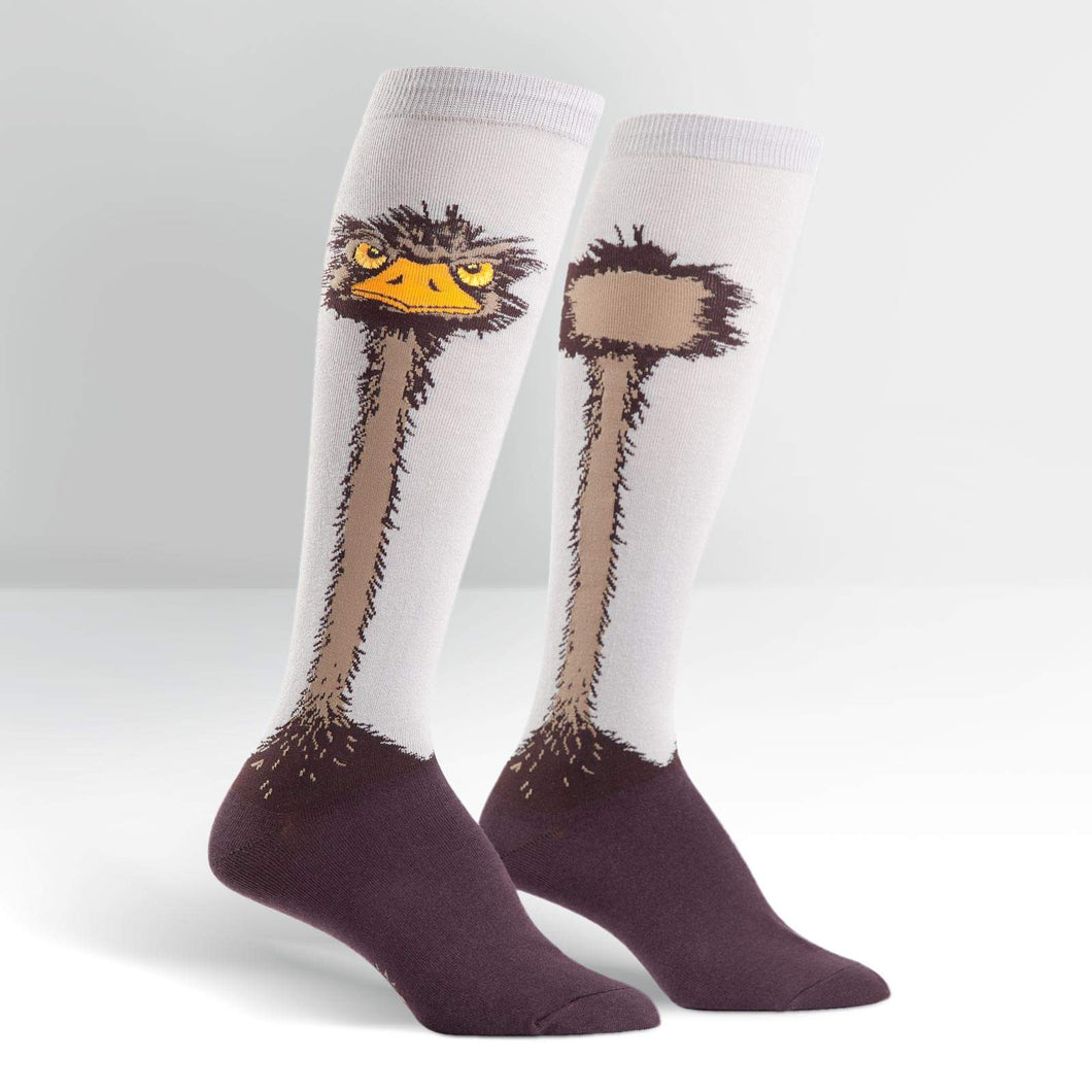 Ostrich - Knee Highs by Sock it to Me