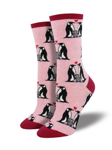 Penguin Love - Ladies Crew Socks by Socksmith