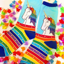 Load image into Gallery viewer, Rainbow Hair Don't Care - Ladies Crew Socks by Socksmith