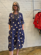 Load image into Gallery viewer, Linen Blend Dress w/Spots