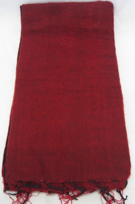 Nepalese Made Wool Throw/Blanket - Red