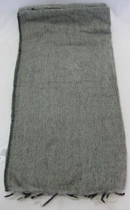 Nepalese Made Wool Throw - Grey