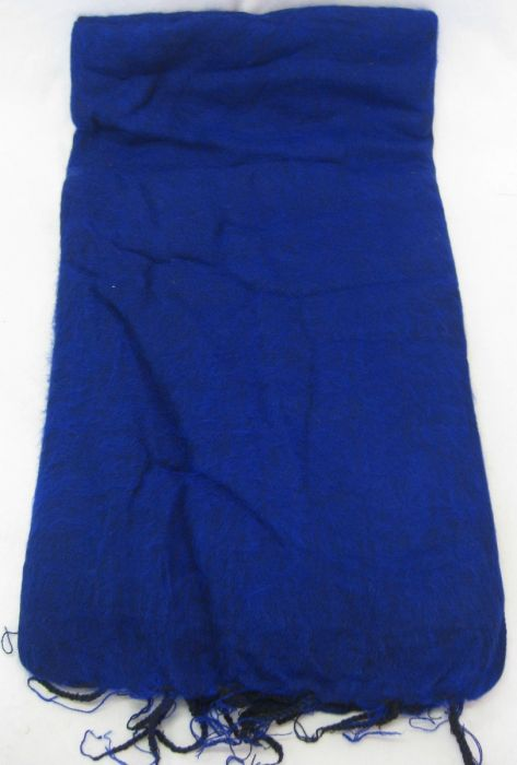 Nepalese Made Wool Throw - Royal Blue