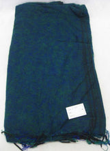 Load image into Gallery viewer, Nepalese Made Wool Throw - Teal Blue