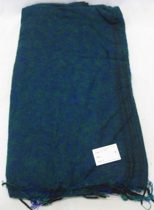 Nepalese Made Wool Throw - Teal Blue