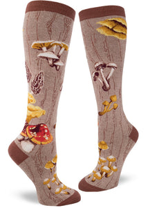 Mushrooms - Moss - Knee Highs by Modsocks