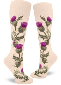 Thistle in Heather Cream - Knee Highs by Modsocks