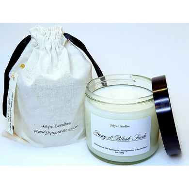 Peony & Blush Suede,  2-Docht Duftkerze 220g - July's Candles