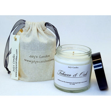 Tobacco & Oak,   Duftkerze  110g - July's Candles