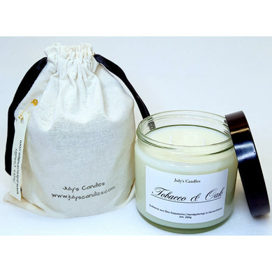 Tobacco & Oak,  2-Docht Duftkerze  220g - July's Candles