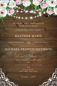 Wedding Invitation Card #A