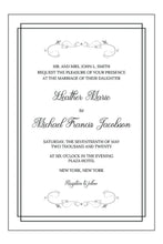 Load image into Gallery viewer, Wedding Invitation Card #J