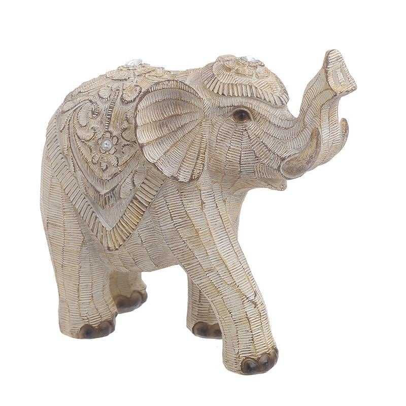 DECORATIUNE ELEFANT BEJ MIC - decoratiuni