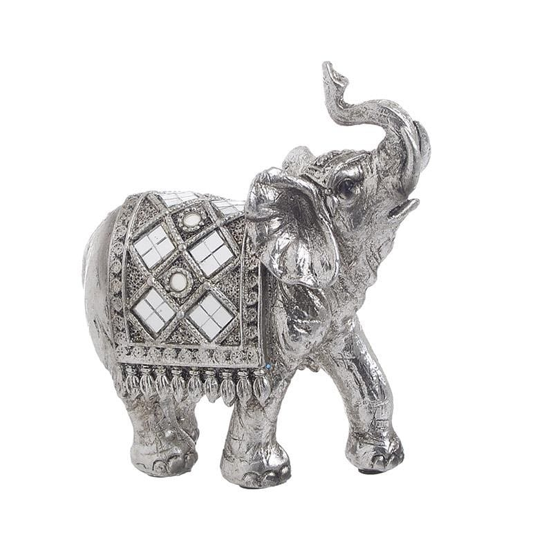 DECORATIUNE ELEFANT ARGINTIU MIC - decoratiuni