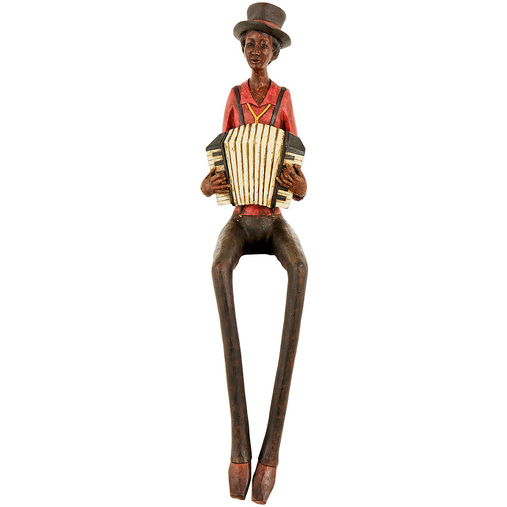 STATUETA MUZICANT JAZZ ACORDEON - decoratiuni