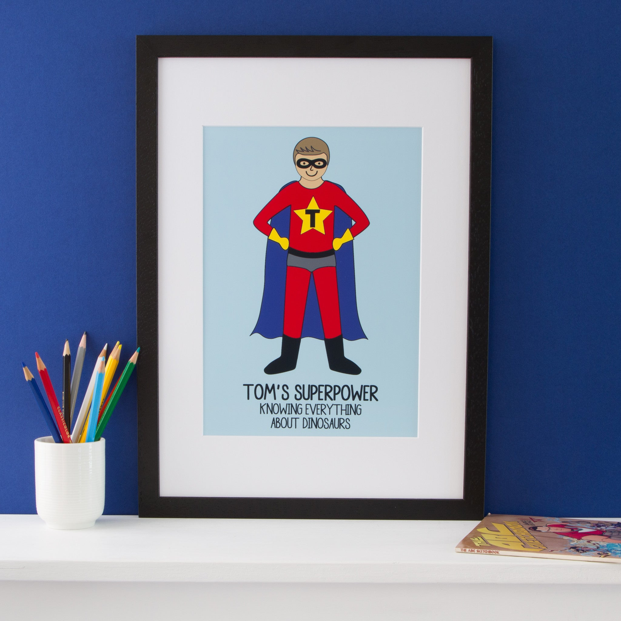 Superhero Portrait Print
