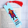 Superhero Personalised Bookmark for girls